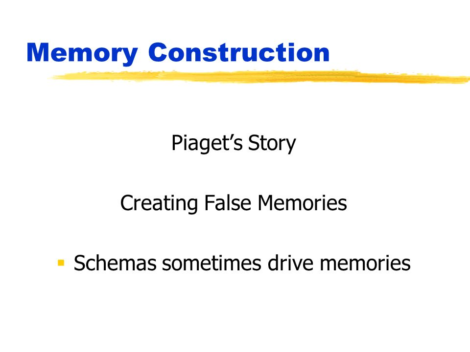 schema driven memory Because we can replicate schema-driven findings in an analogy paradigm, we should be able to use what we know about analogy to understand schematic memory.