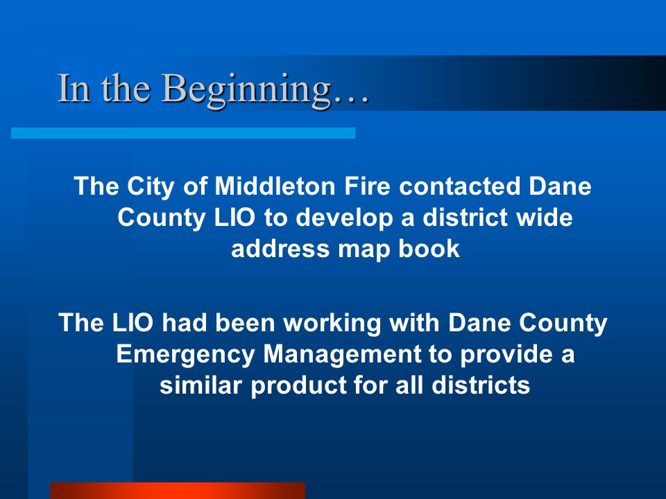 Middleton Fire Map.An Address Mapping Application An Example Of City County