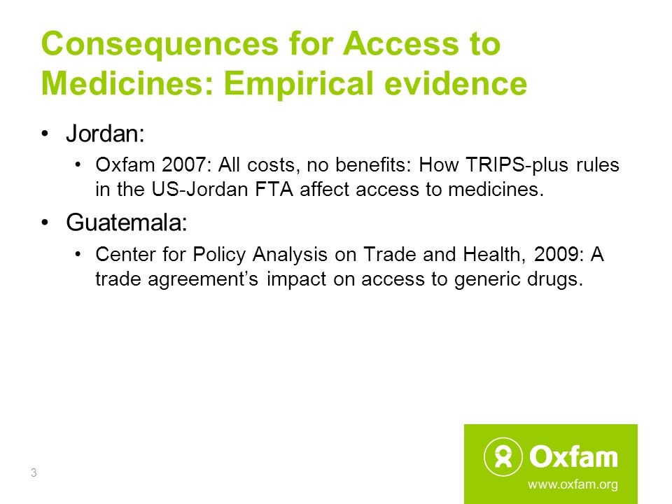 Data Exclusivity And Access To Medicines Empirical Evidence