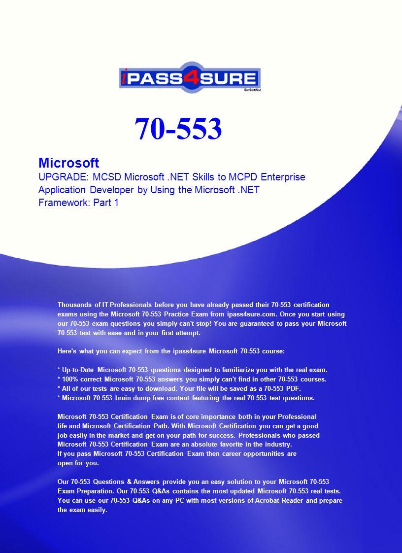 Microsoft Upgrade Mcsd Microsoft Skills To Mcpd Enterprise