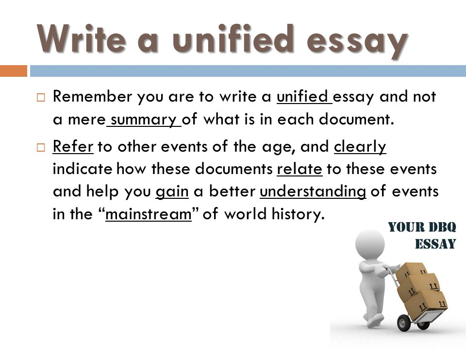 what is a unified essay