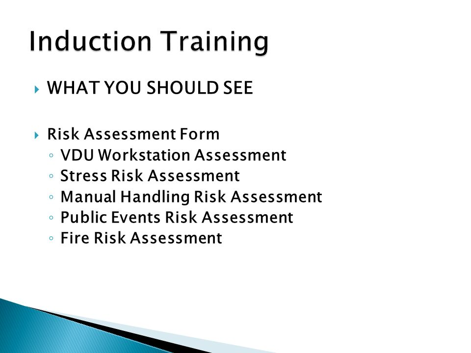 Welcome To The Induction Training Program Reasons For Safety