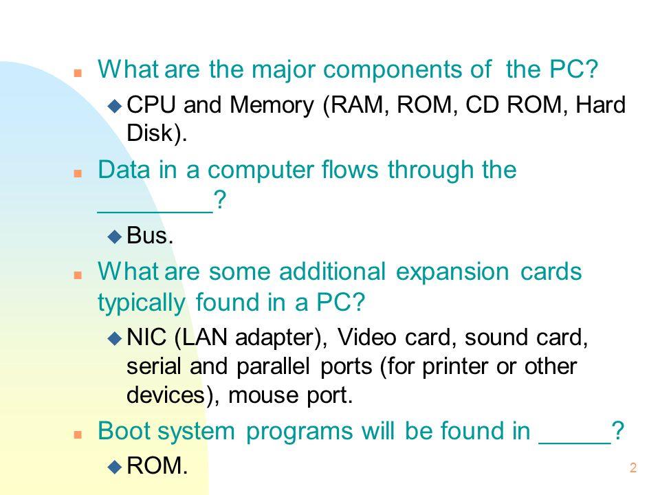 1 Review - Computing Basics n Key points: u Computer