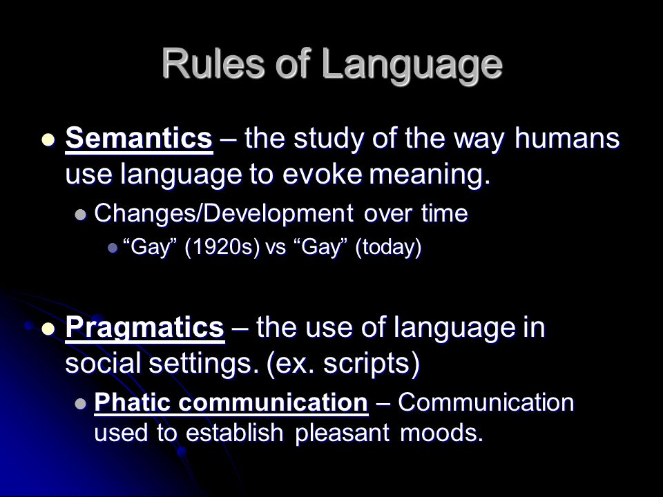 Chapter 3 Verbal Communication Definition Of Language Language