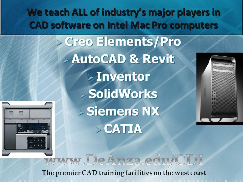 De Anza PTC Creo Elements/Pro (formally Pro/ENGINEER) User