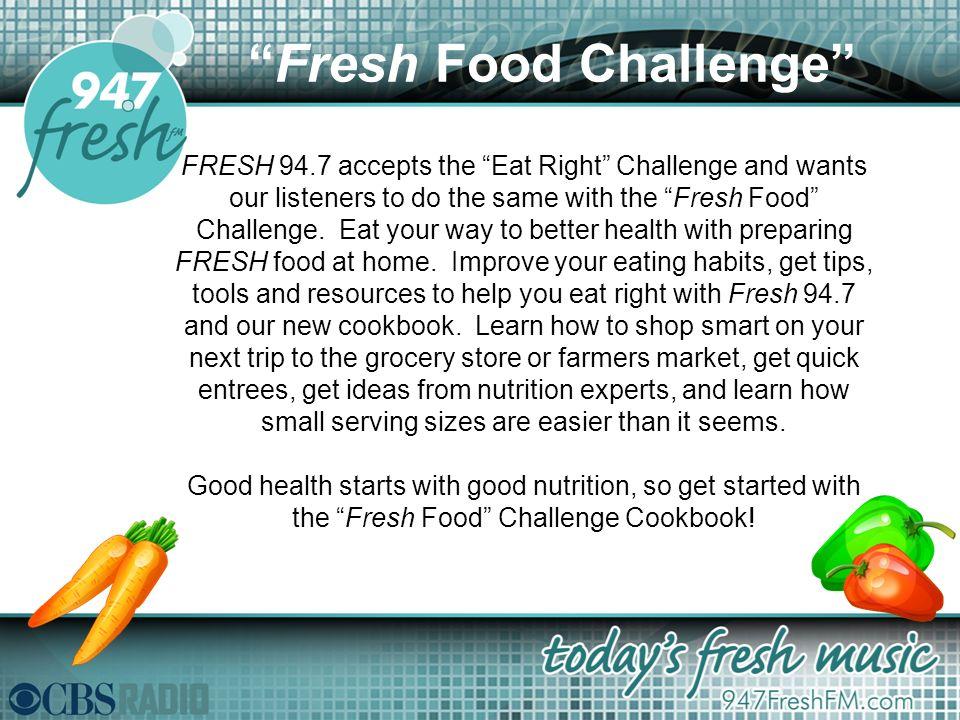 2 Fresh Food Challenge FRESH 947