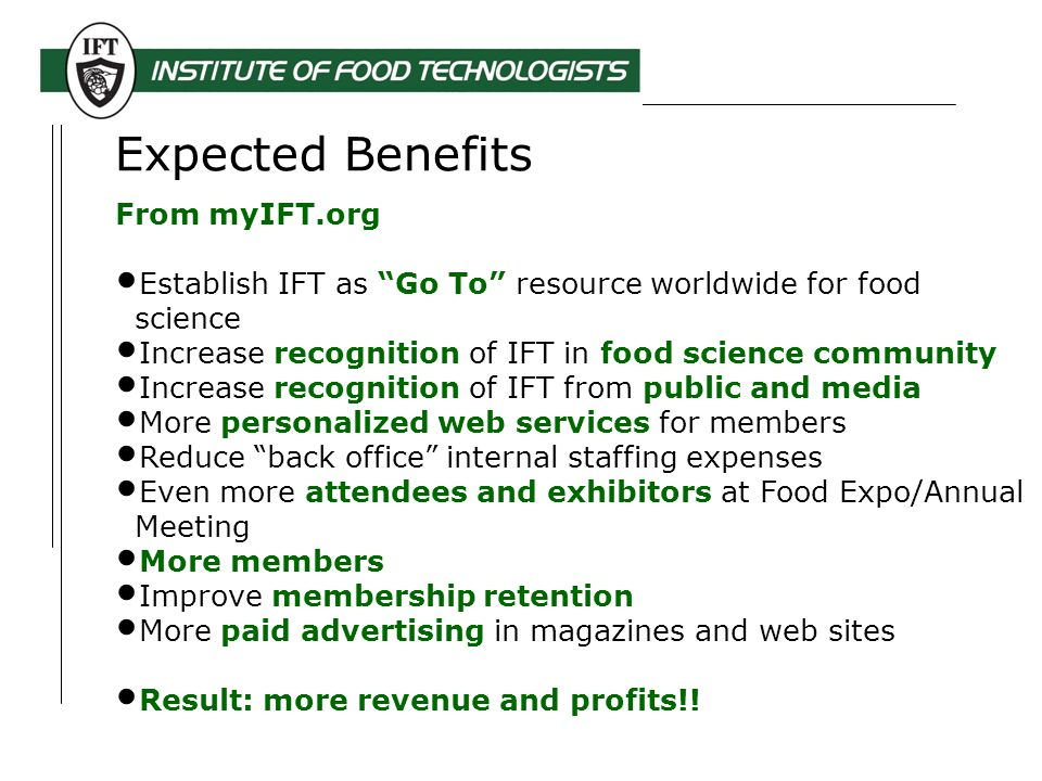 Institute of Food Technologists (IFT) myIFT org Overview