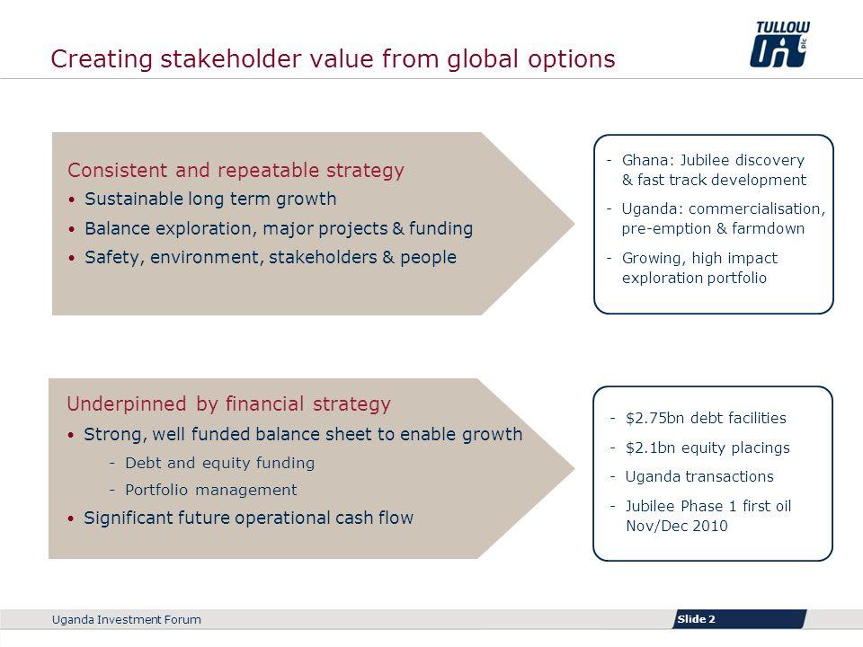Slide 1 Uganda Investment Forum Tullow: Investing in Uganda  - ppt