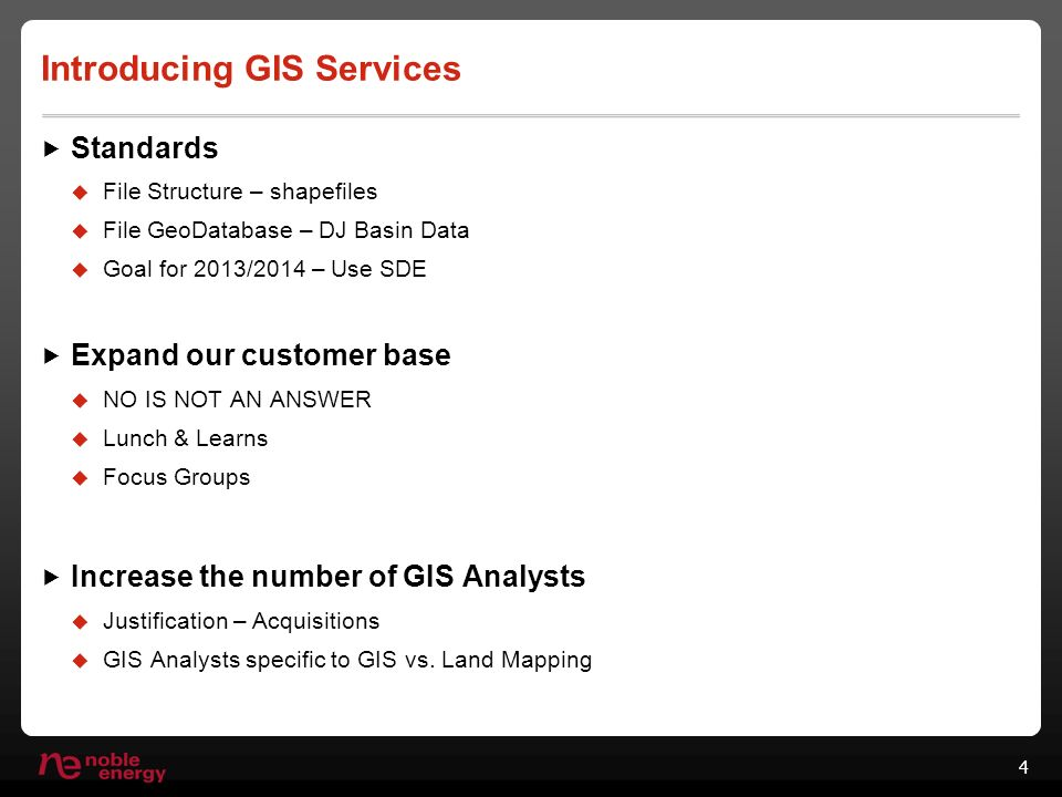 GIS Services Our long journey to an Enterprise GIS  Brief