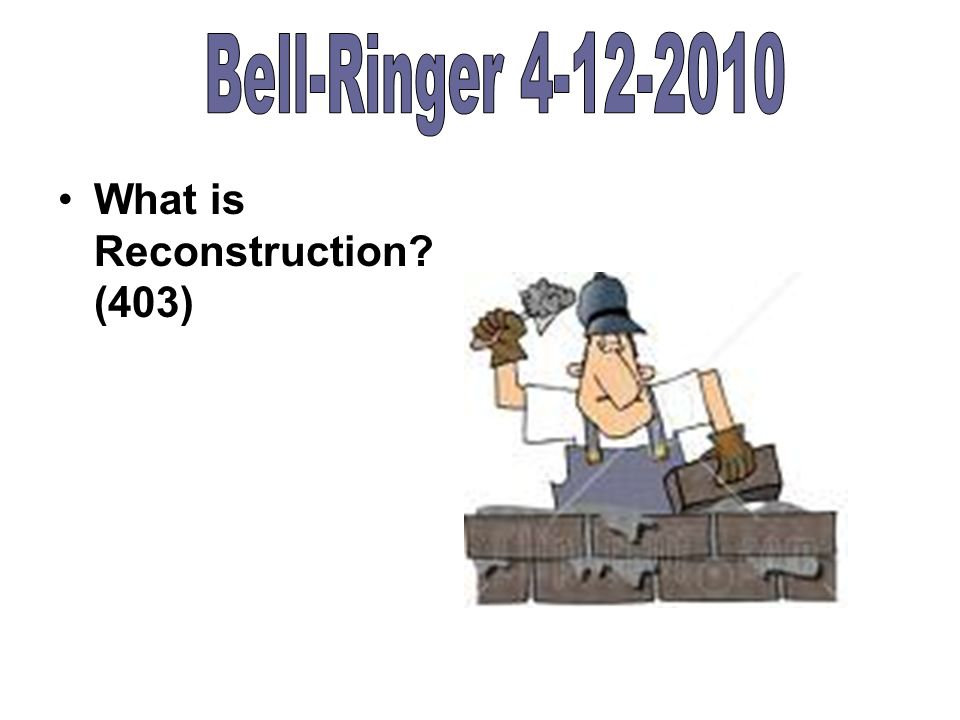 what is reconstruction 403 what does amnesty mean 403 what