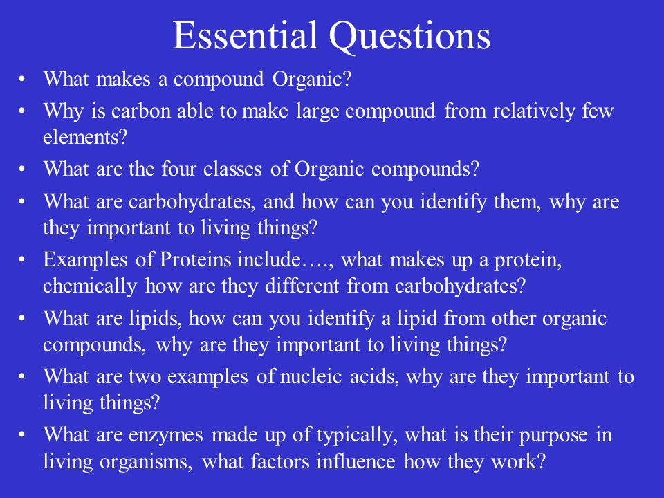 The Chemistry Of Life Organic Compounds 2 3Carbon Compounds