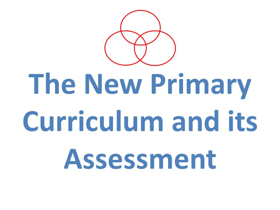 The New Primary Curriculum and its Assessment