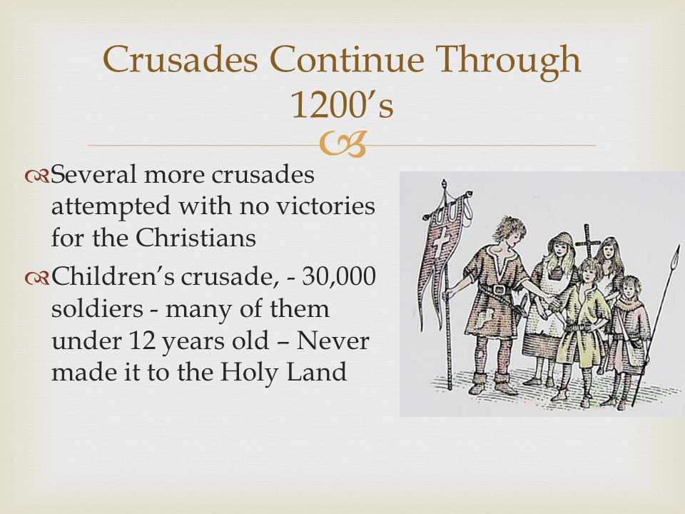 were the crusades caused primarily by The crusades were not called that until later during its time, it was called a pilgrimage by the christians the first response was the people's crusade led by peter the hermit this disorganized, unsanctioned crusade was quickly wiped out by the muslims.