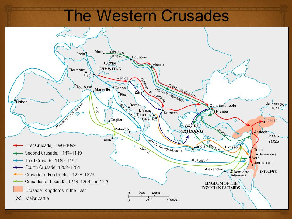   Several more crusades attempted with no victories for the Christians  Children's crusade, - 30,000 soldiers - many of them under 12 years old – Never made it to the Holy Land Crusades Continue Through 1200's