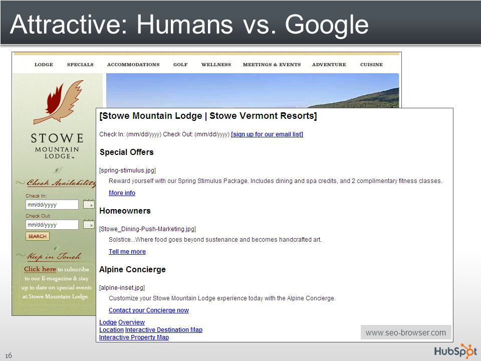 Attractive: Humans vs. Google 16