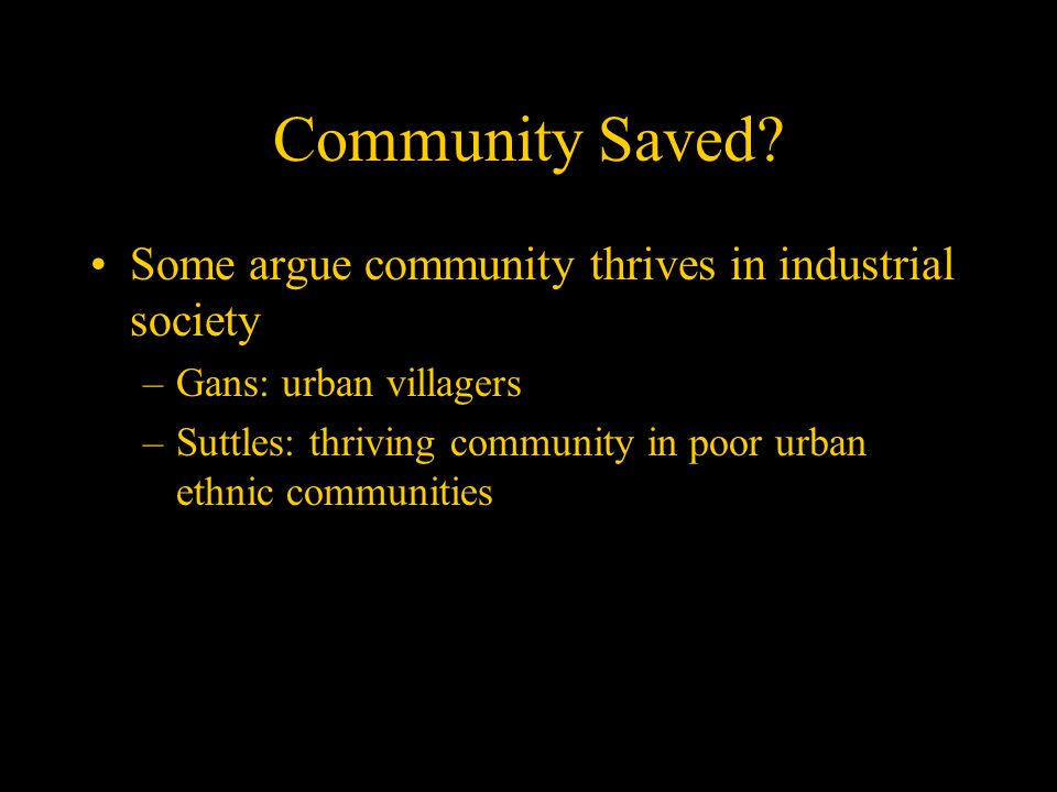 gans urban villagers