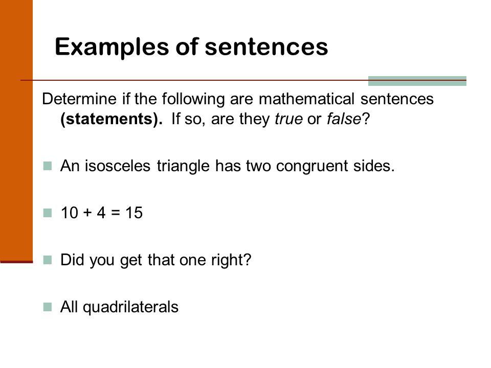 Logic the study of critical thinking. Mathematical sentence a.