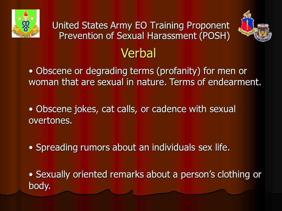 Sexual harassment training powerpoint army