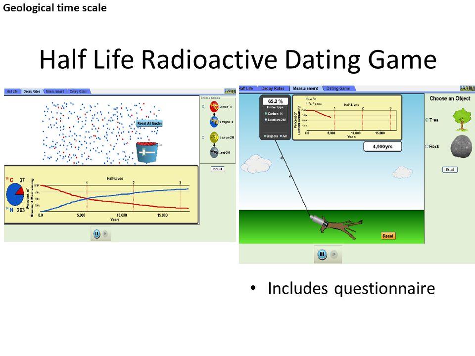 radioactive dating game