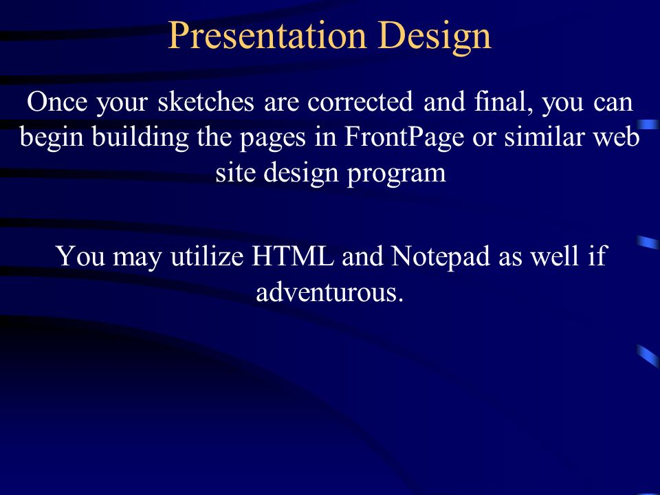 Web Development Presentation Design Visualizing Your Web