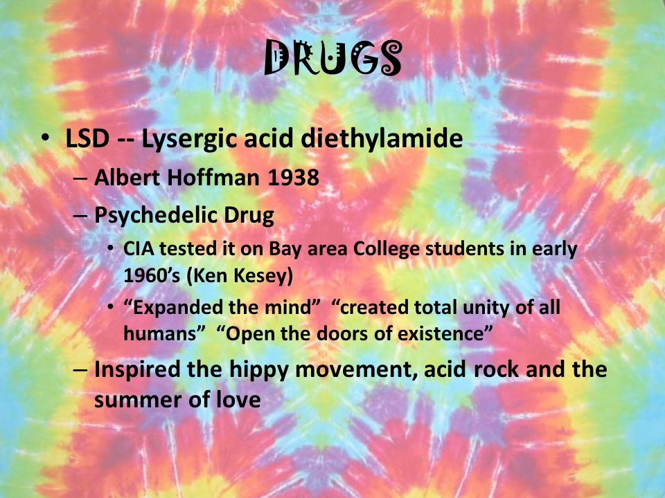 11 DRUGS LSD Lysergic Acid