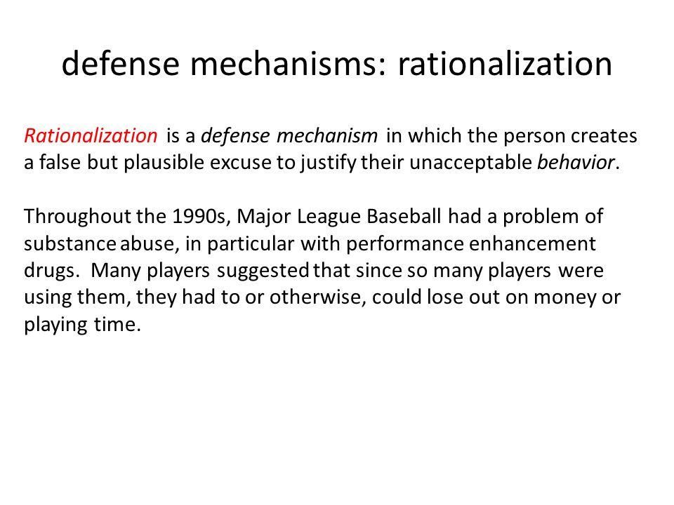 substance abuse defense mechanisms