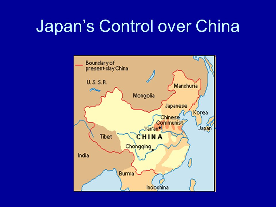 Japan Rises to Power Military leaders took control of Japan in the 1930s They developed a plan called militarism Japan needed natural resources for its industries 1931 Japan invaded Manchuria in north China to get coal and oil 1932 Japan set up a puppet state in Manchuria 1937 Japan attacks China The U.S.