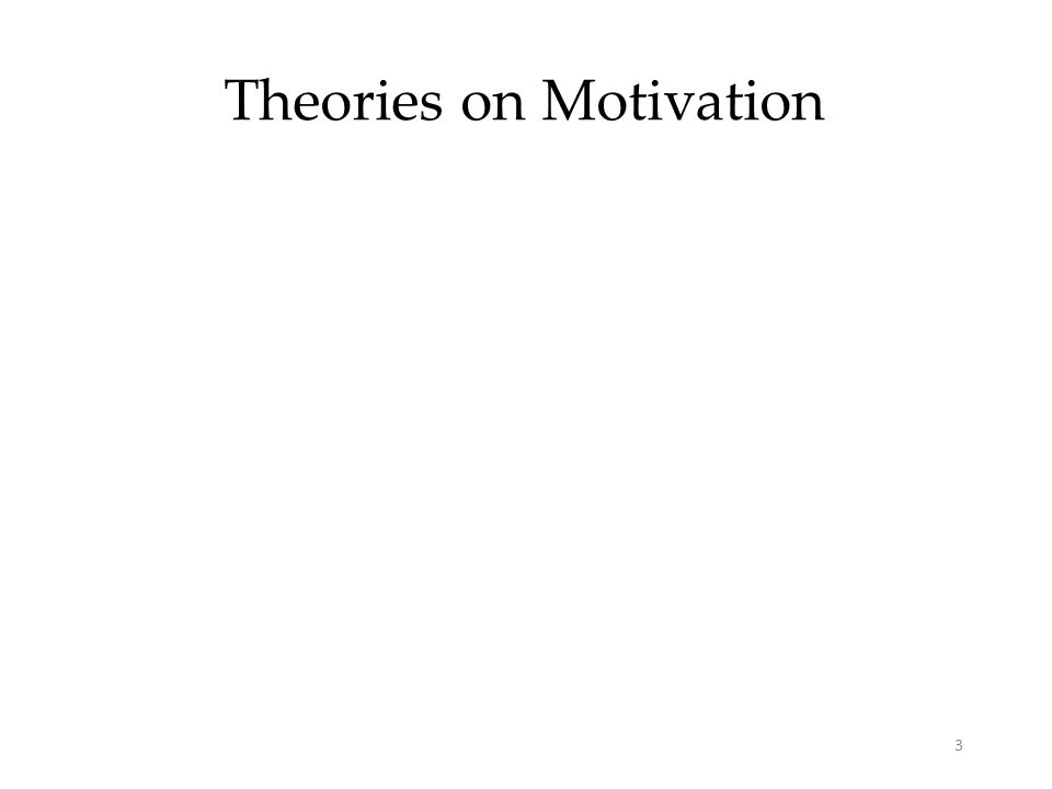 3 Theories on Motivation