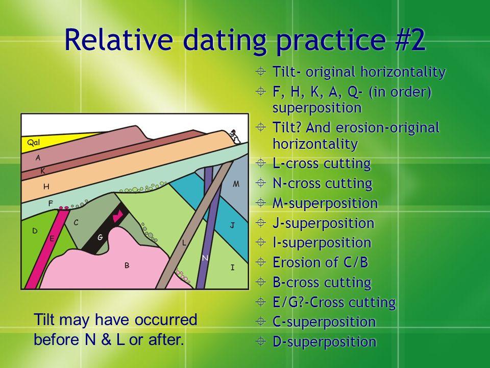 How do you do relative dating