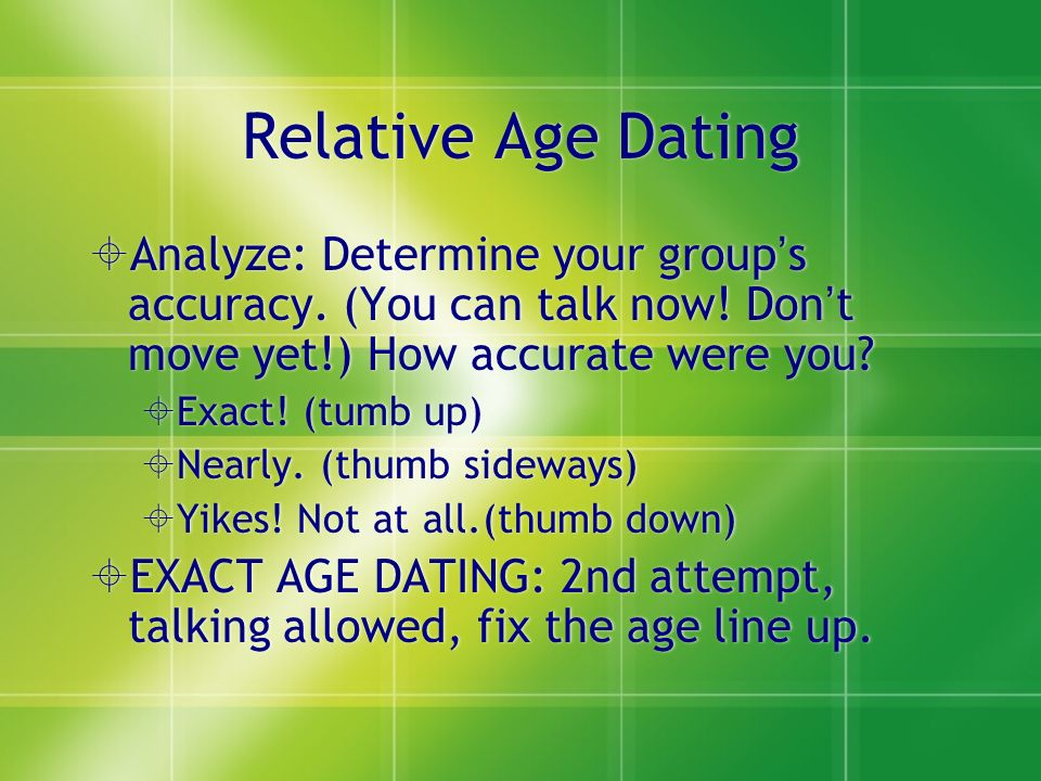 is relative dating accurate