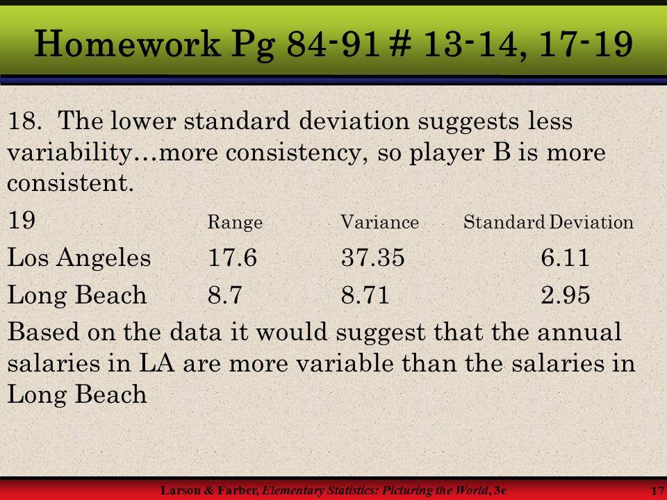 Descriptive Statistics Chapter 2  § 2 4 Measures of