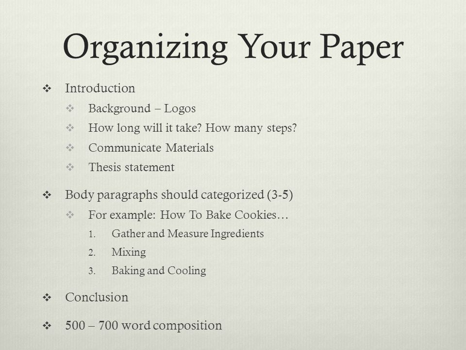 The Process Paper How To  Definition The Process Essay Is Writing   Organizing