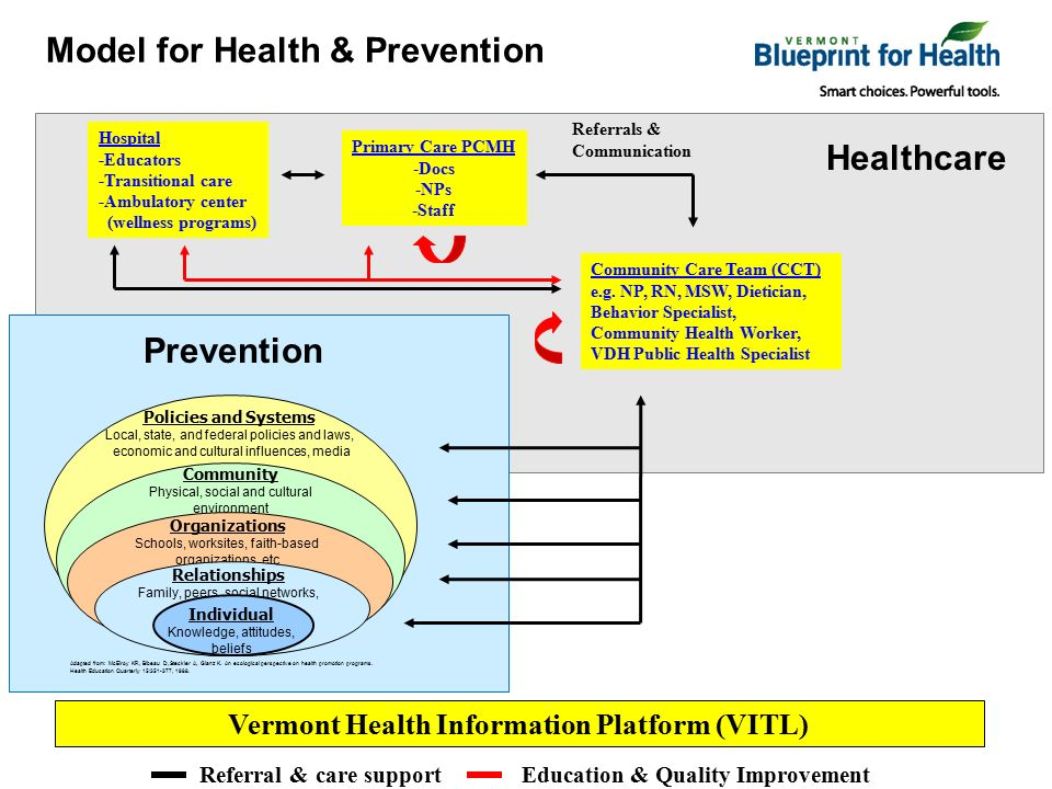 Vermont blueprint for health integrated pilot programs pcpcc call 9 primary malvernweather Images