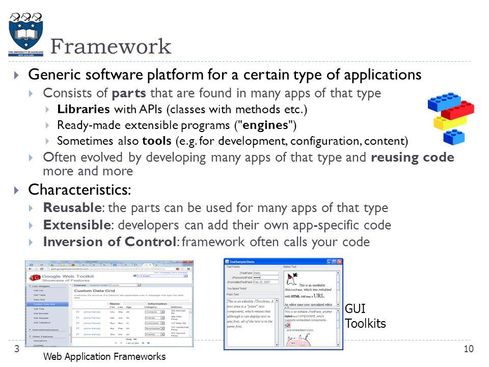 CompSci 230 S Software Construction Frameworks & GUI Programming