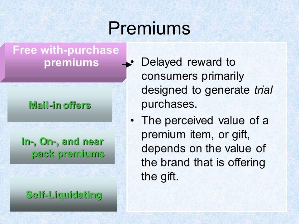 Self liquidating premium offers