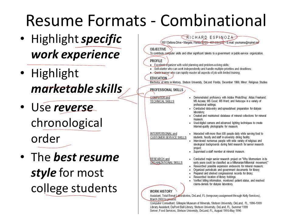skills used for resume