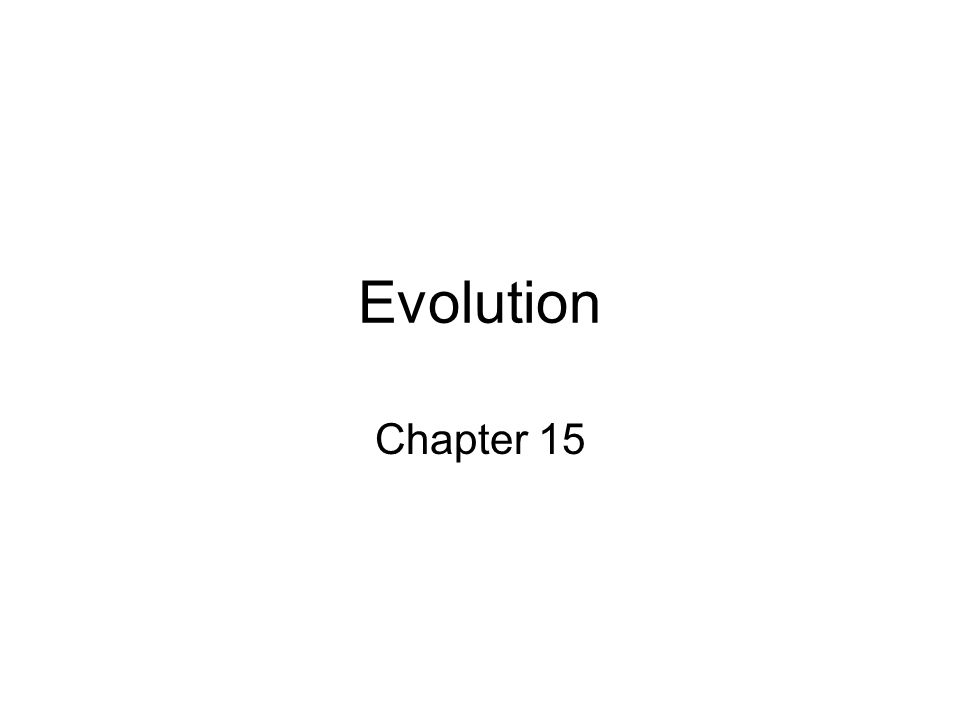 Evolution Chapter 15