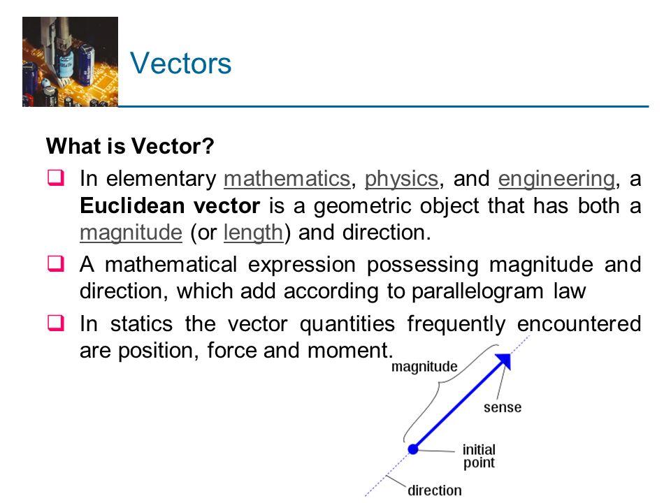 2.4 Products of Vectors