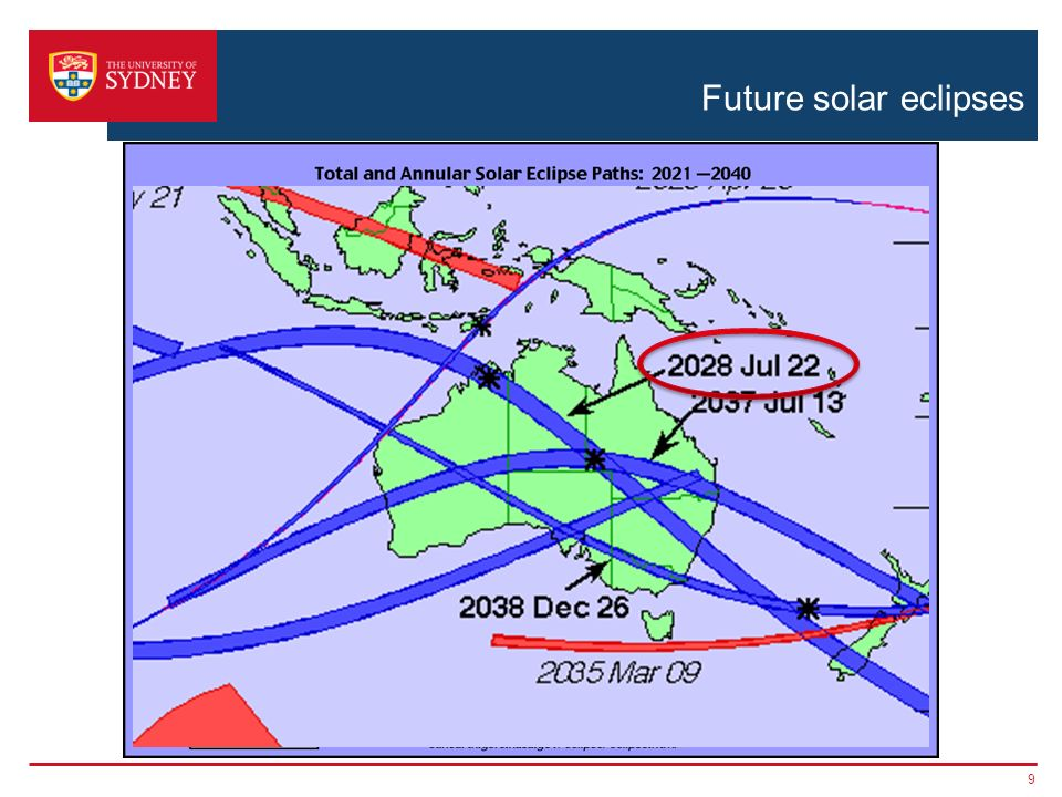 Future Total Eclipse Map.Solar Eclipses And Hunting For Planets Sydney Institute For