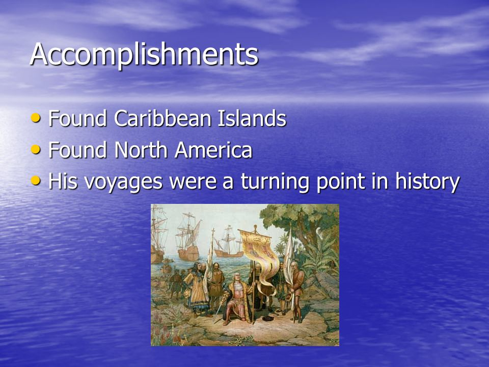 what are some of christopher columbus accomplishments