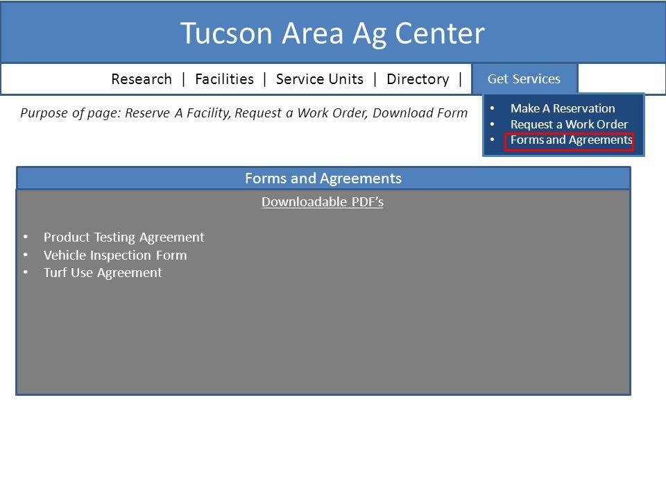Agriculture Experiment Station Tucson Area Maricopa Yuma Mesa