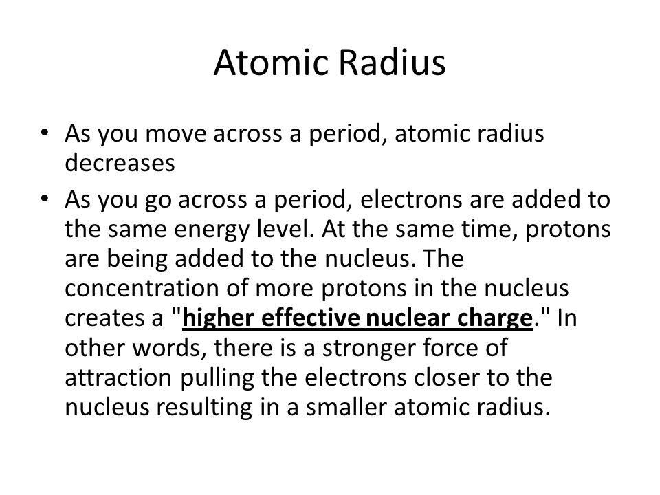 Periodic table trends atomic radius as you move down a group 3 atomic radius as you move across urtaz Images
