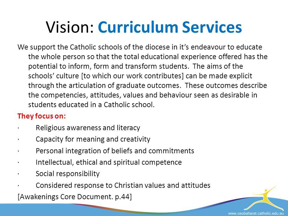 CEOB Vision Catholic Education Office, Ballarat ESSG Team