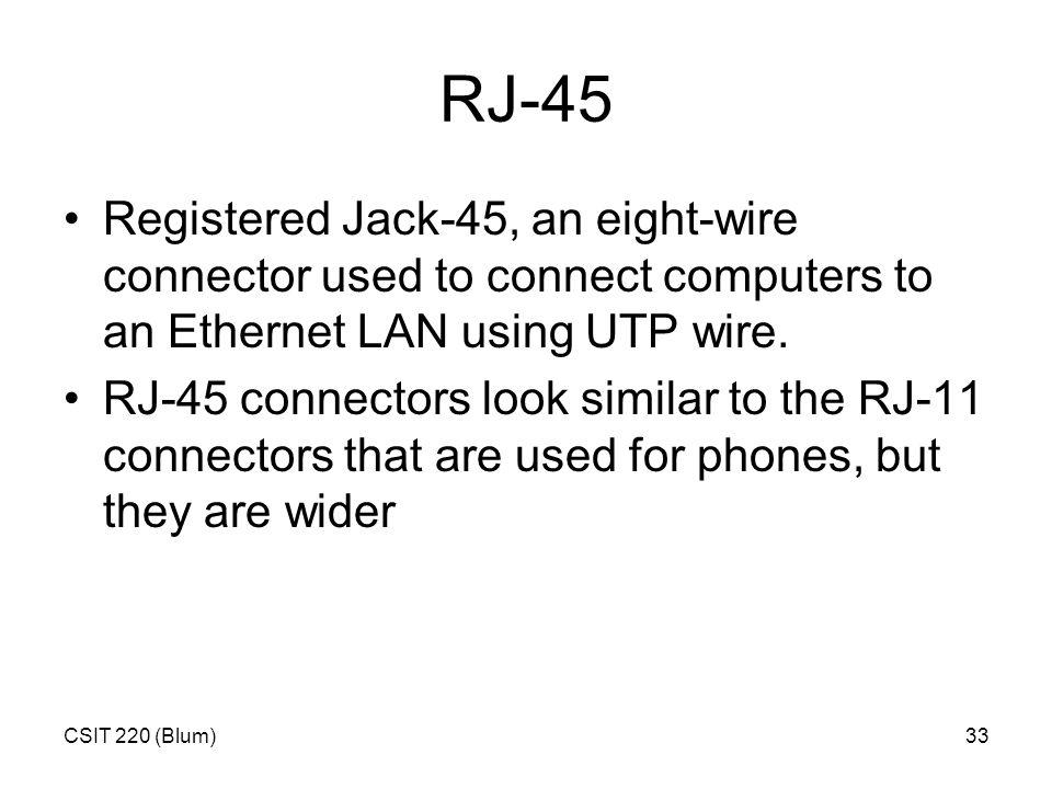 CSIT 220 (Blum)1 More Ethernet. CSIT 220 (Blum)2 Sniffer A sniffer ...