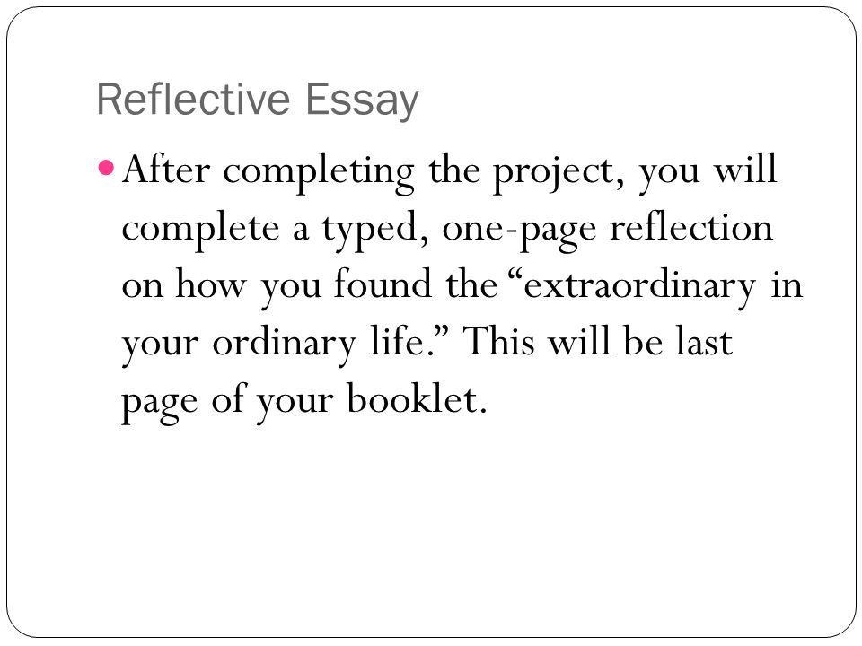 Thesis Statement Essay Example  Reflective Essay  Learning English Essay Writing also How To Write A High School Essay Narrative Writing Encyclopedia Of An Ordinary Life  Ppt Download Essays On English Literature