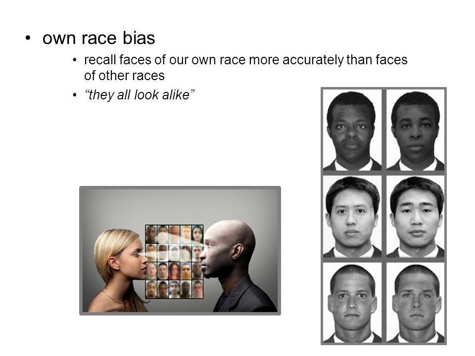 Own race bias