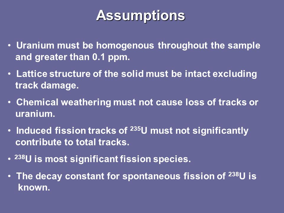 Fission-track dating relies on the decay of the art