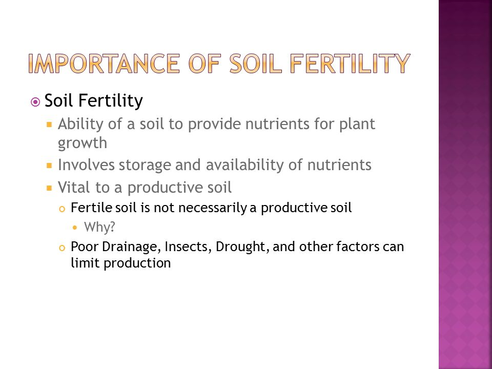 soil productivity and soil fertility