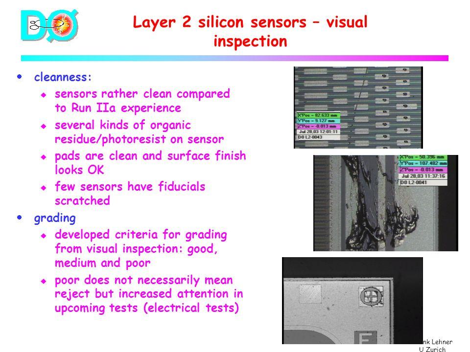 Frank Lehner U Zurich Characterization of inner layer sensors DØ