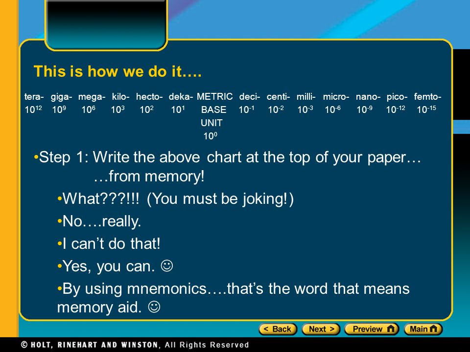 Understanding Metric Prefixes The Following Metric Prefixes Can Be